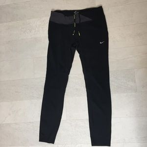 Nike Running Pants Sz L Dry Fit Yoga Stretch